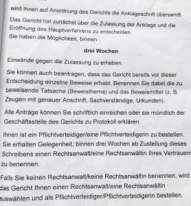 Anwalt BtM Kanzlei Louis & Michaelis in Essen Anklageschrift durch das Amts- oder Landgericht zugestellt